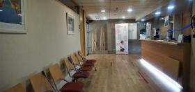 Sala de espera en la recepción del Institut Mèdic Gràcia