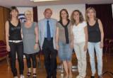 Equip d'oncologia després xerrada prevenció càncer