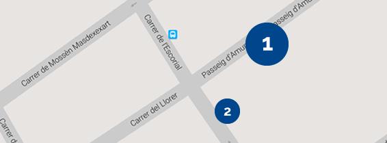 Mapa accés Bloc 1 consultoris especialitats