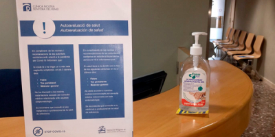 Medidas de higiene y prevención de la Covid-19 en Clínica Ntra. Sra. del Remei